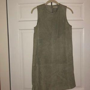 Green suede Balenciaga dress